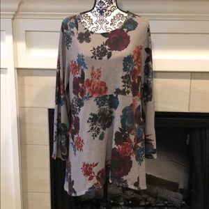 Chico's Floral Long Sleeve Dress